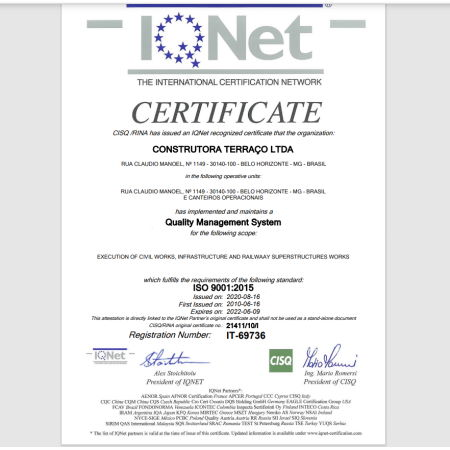 ISO 9001:2015 IQNET